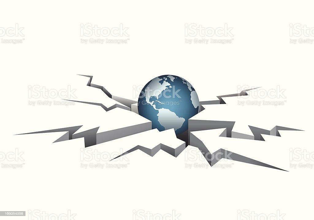 World Crisis royalty-free stock vector art