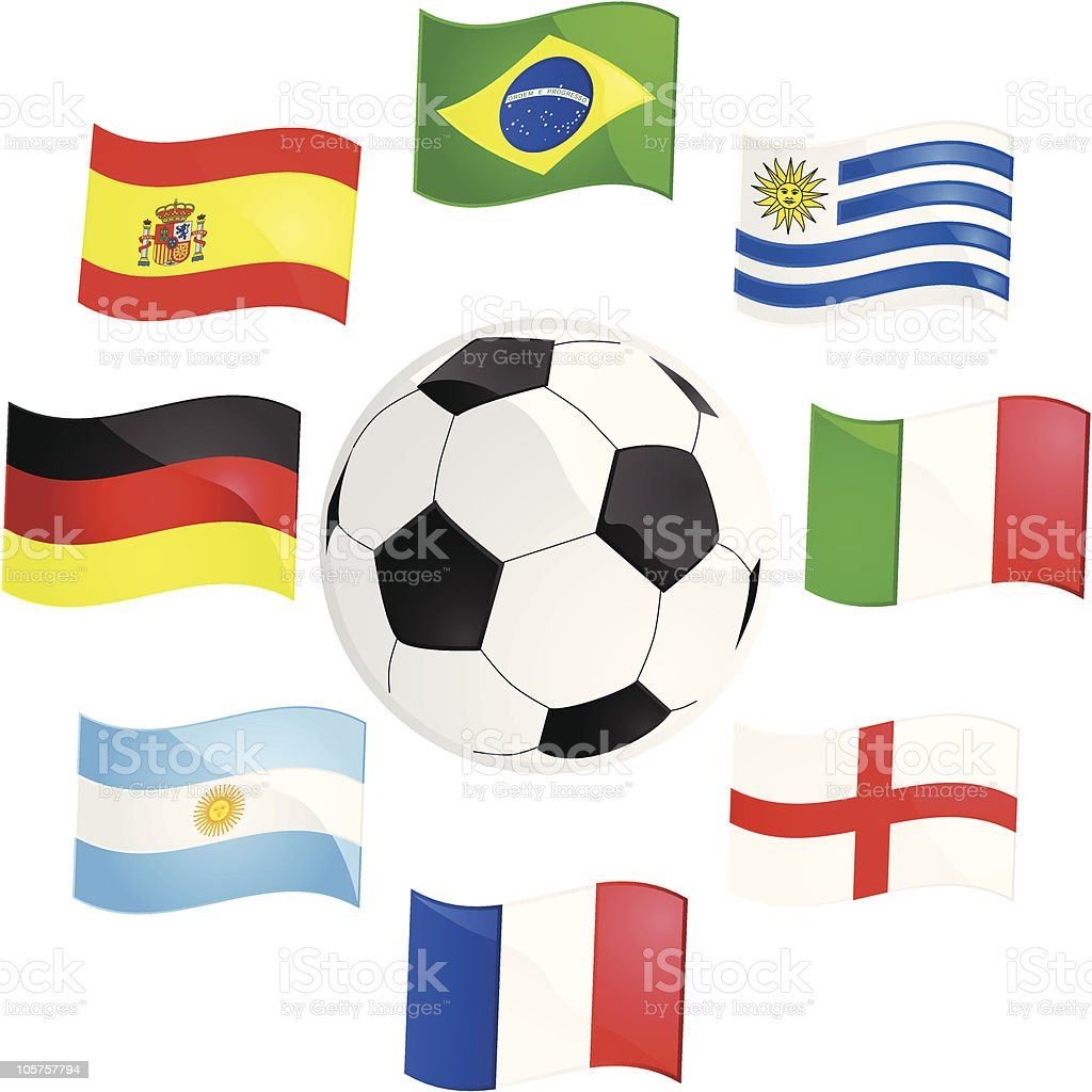 World Cup champions royalty-free stock vector art