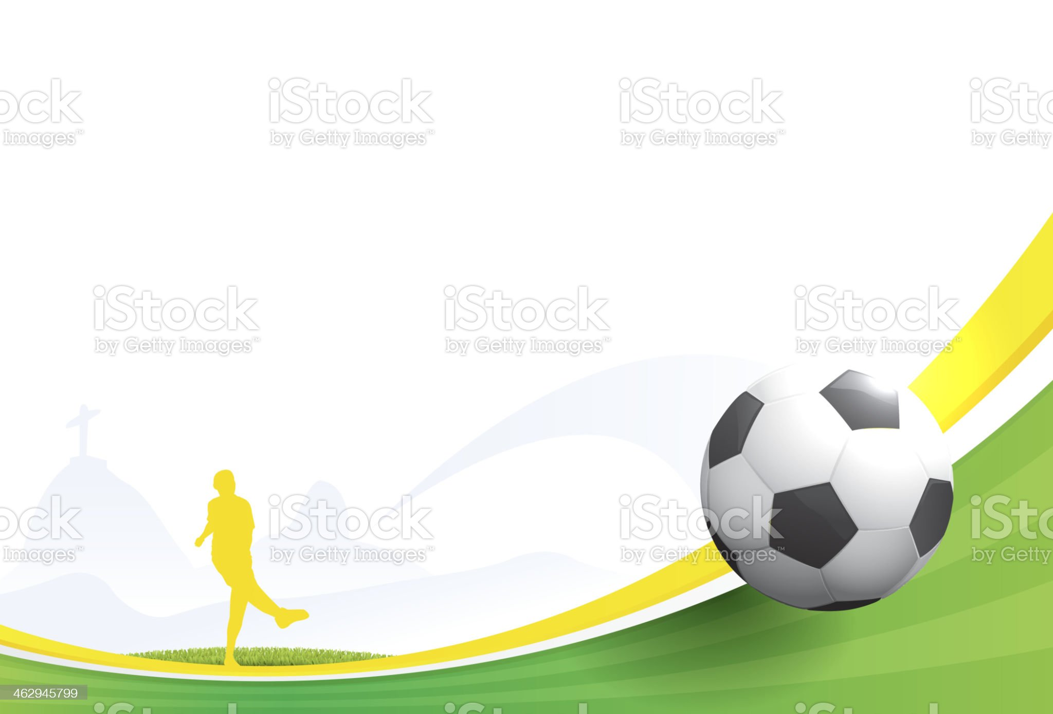 World cup football - Brazil 2014 royalty-free stock vector art