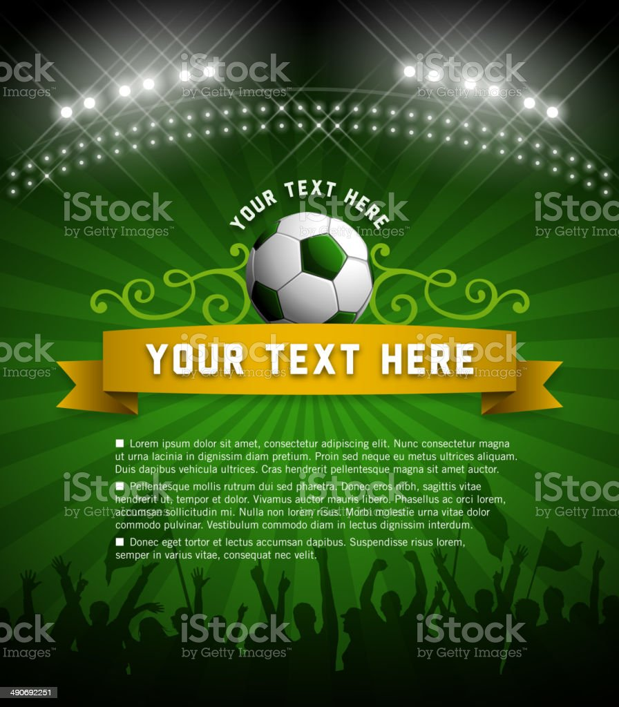World Cup Invitation vector art illustration