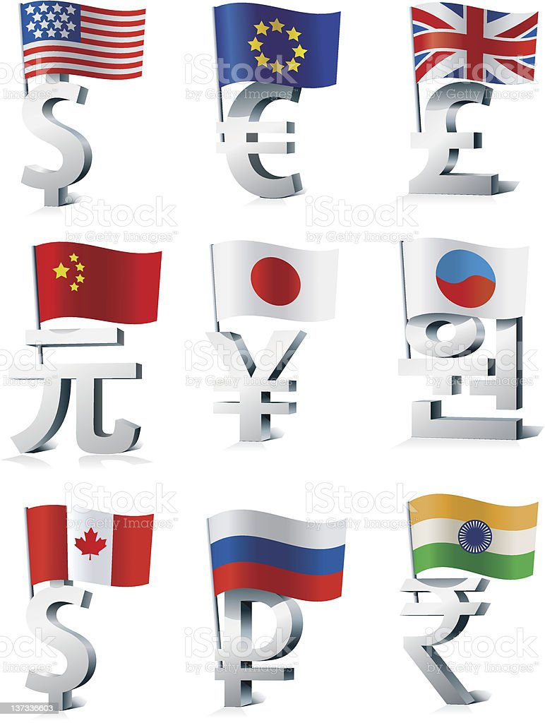 World currencies. royalty-free stock vector art