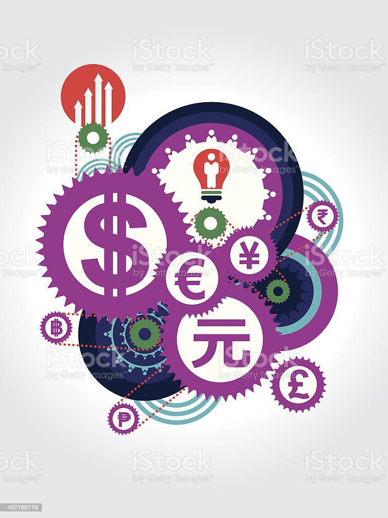 World Currency symbol concept Illustration vector art illustration