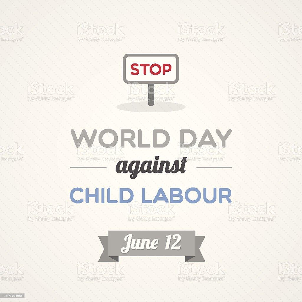 World Day Against Child Labour vector art illustration