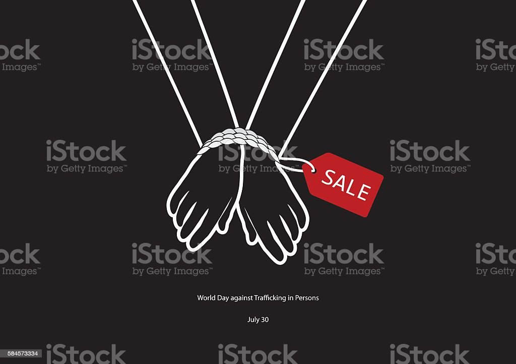 World Day against Trafficking in Persons vector vector art illustration