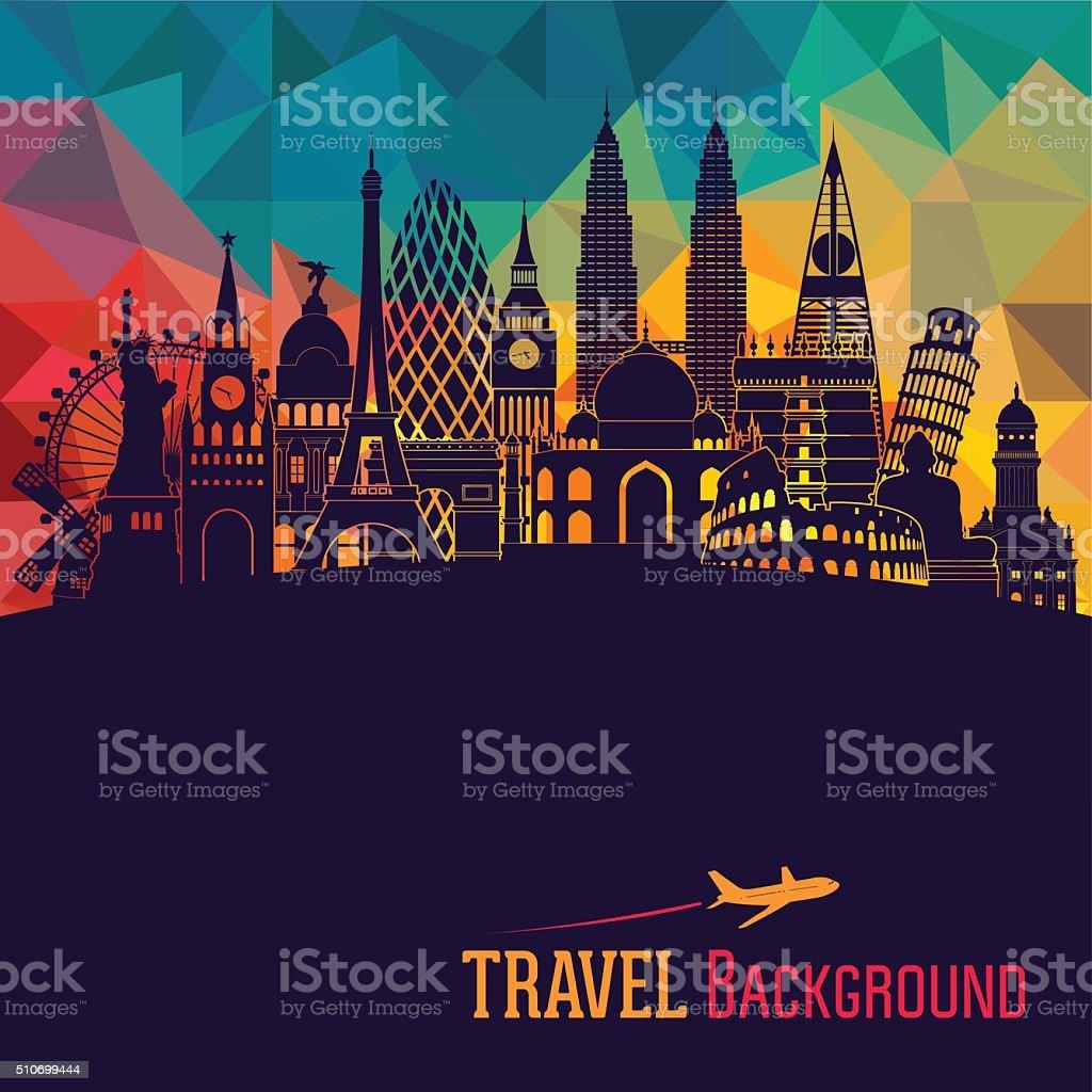 World detailed skyline. Vector illustration vector art illustration