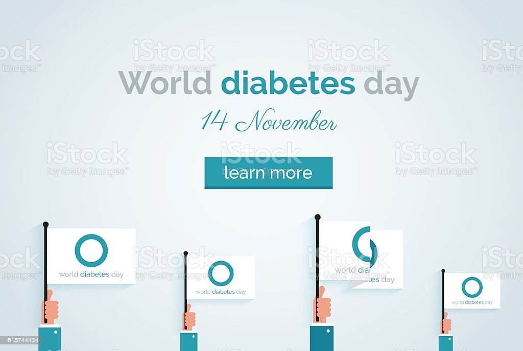 World diabetes day banner vector art illustration