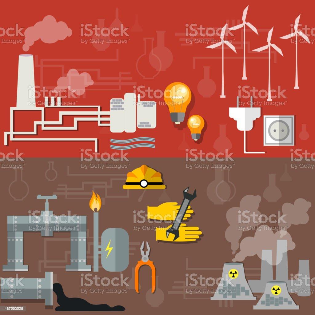 World energy vector art illustration