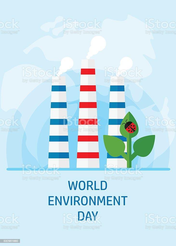 world environment day ladybug vector art illustration
