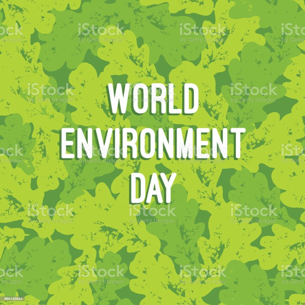 Poster design environment day - World Environment Day Typography Poster With Leaves Bunch Seamless Pattern Vegan Natural Organic