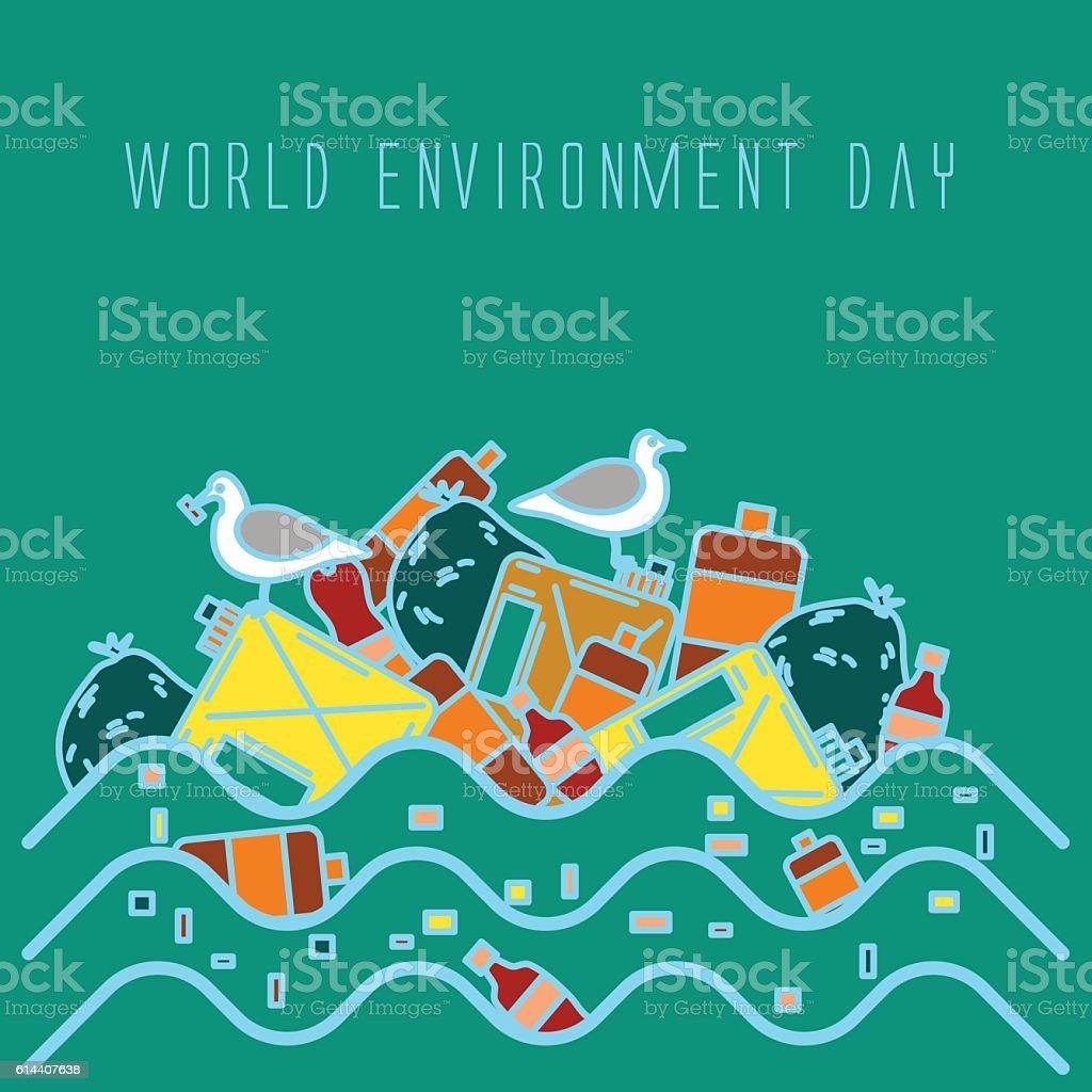 World environment day vector art illustration