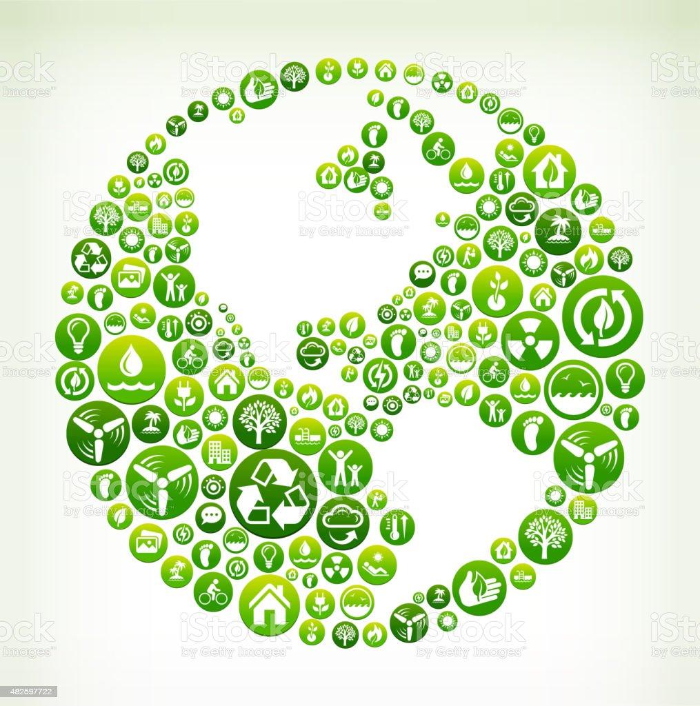 World Environmental Conservation Green Vector Button Pattern. vector art illustration