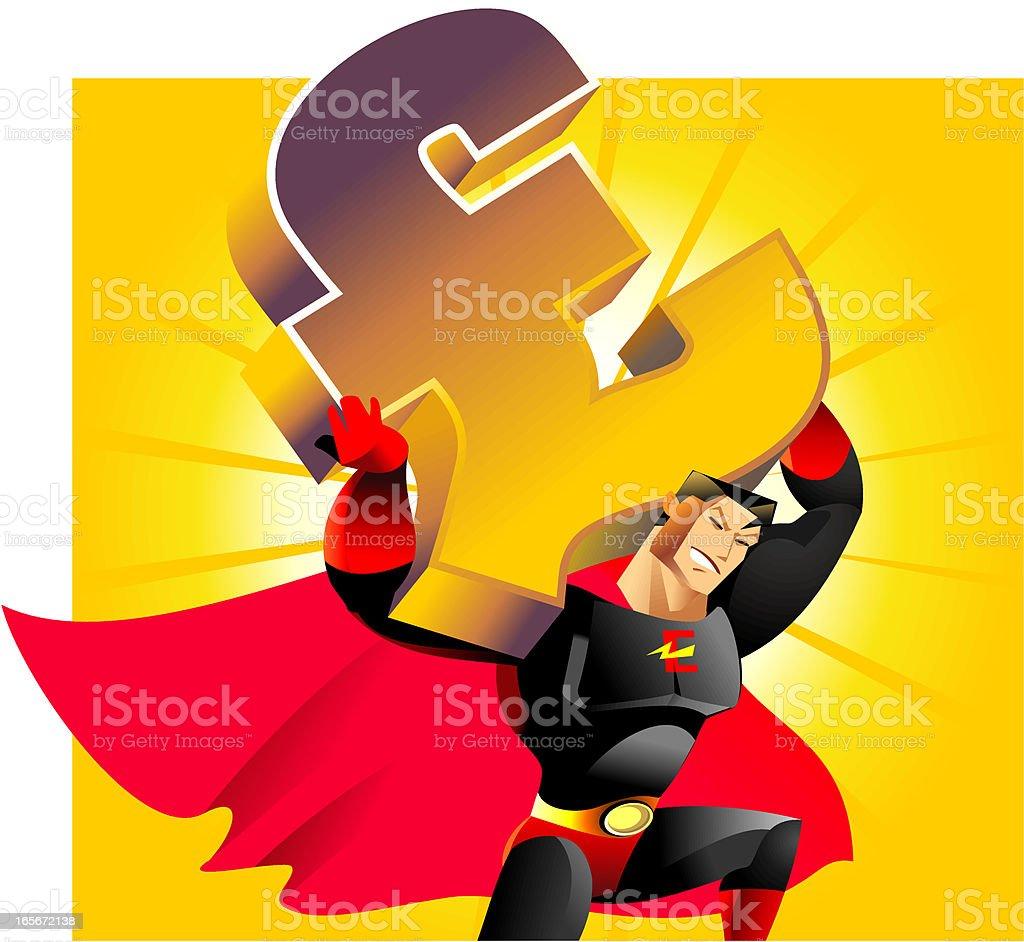 world finance superhero royalty-free stock vector art