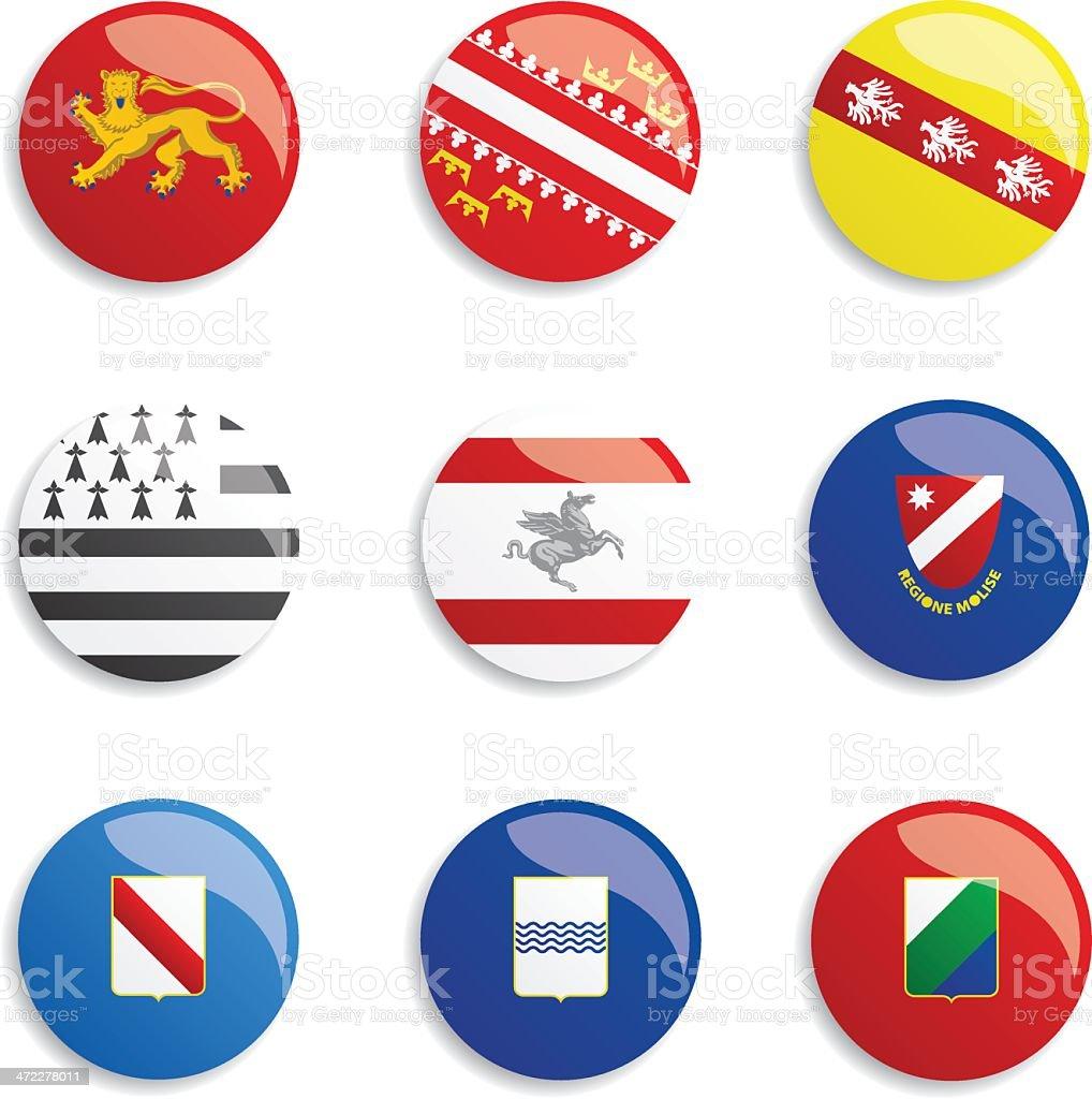World Flag Buttons vector art illustration