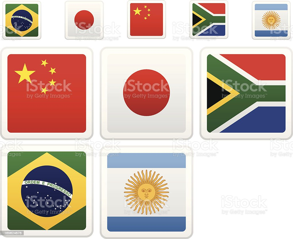 World Flag Collection royalty-free stock vector art
