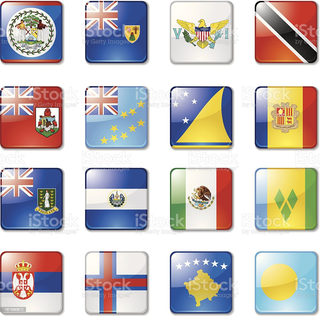 World Flags: 10 royalty-free stock vector art