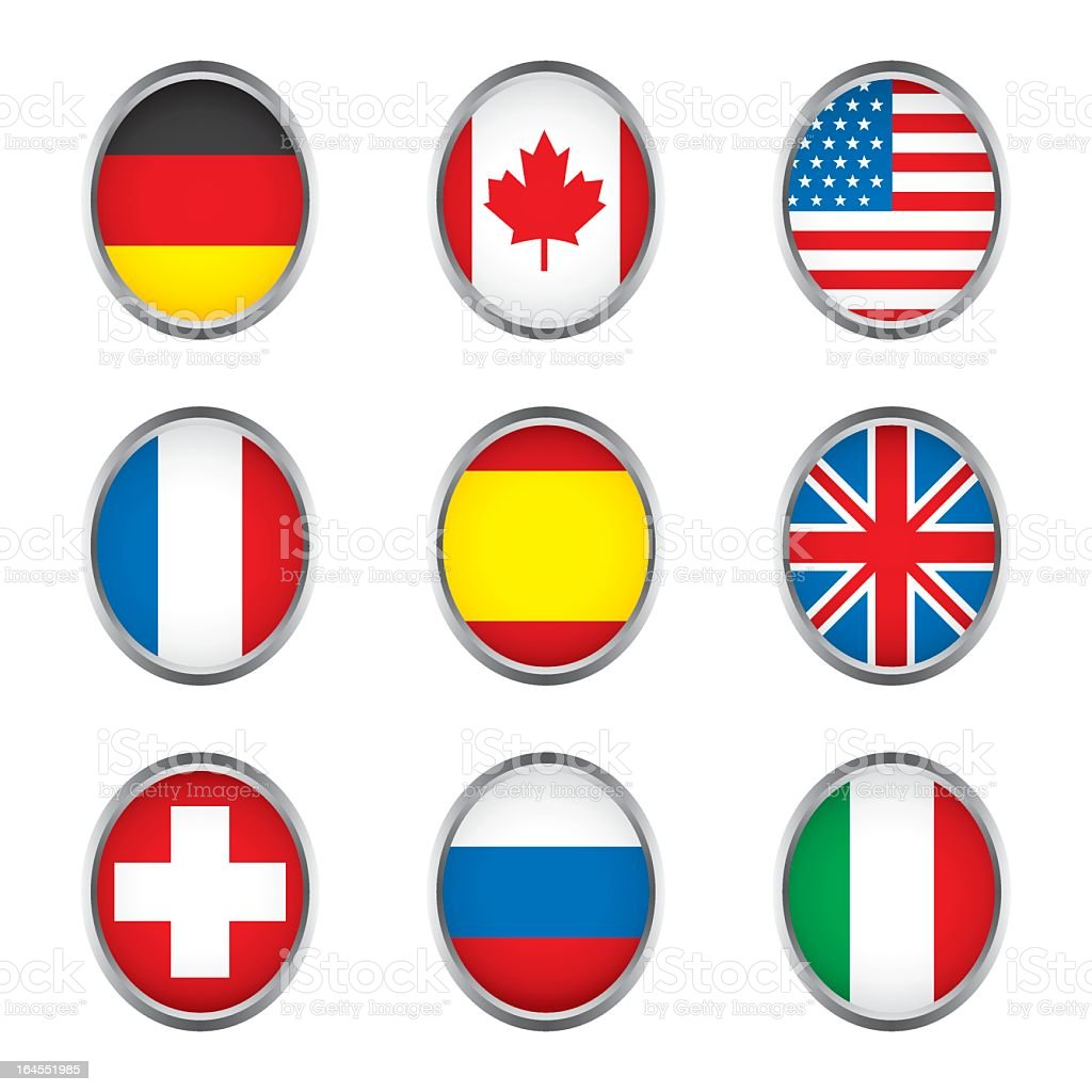 World flags collection D 1/4 royalty-free stock vector art