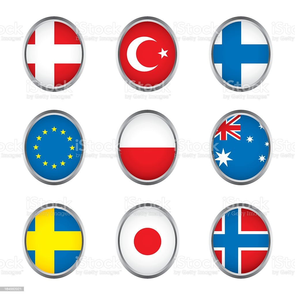 World flags collection D 3/4 royalty-free stock vector art