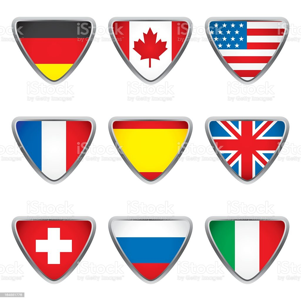 World flags collection E 1/4 royalty-free stock vector art