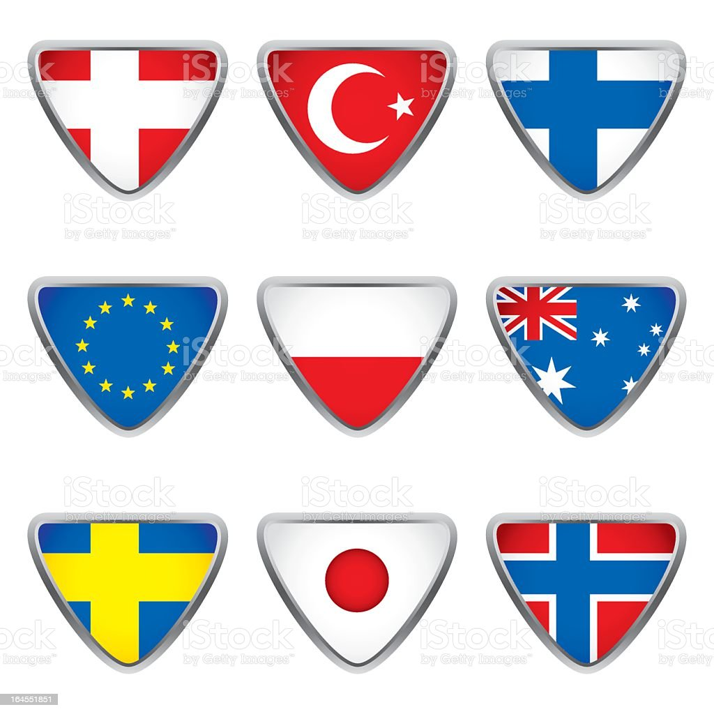 World flags collection E 3/4 royalty-free stock vector art