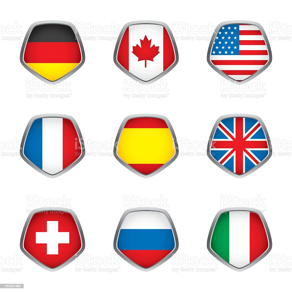 World flags collection F 1/4 royalty-free stock vector art
