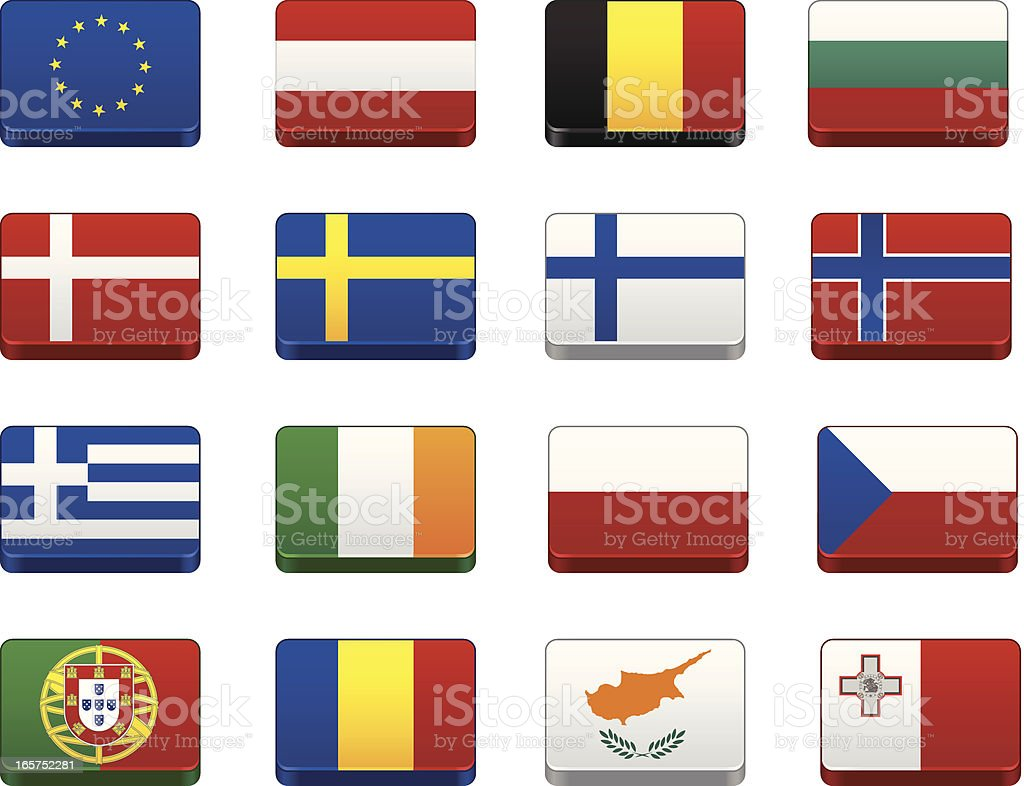 World Flags   Europe royalty-free stock vector art