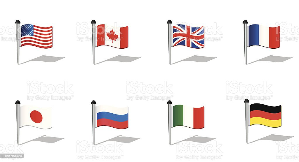 World Flags: G8 countries royalty-free stock vector art
