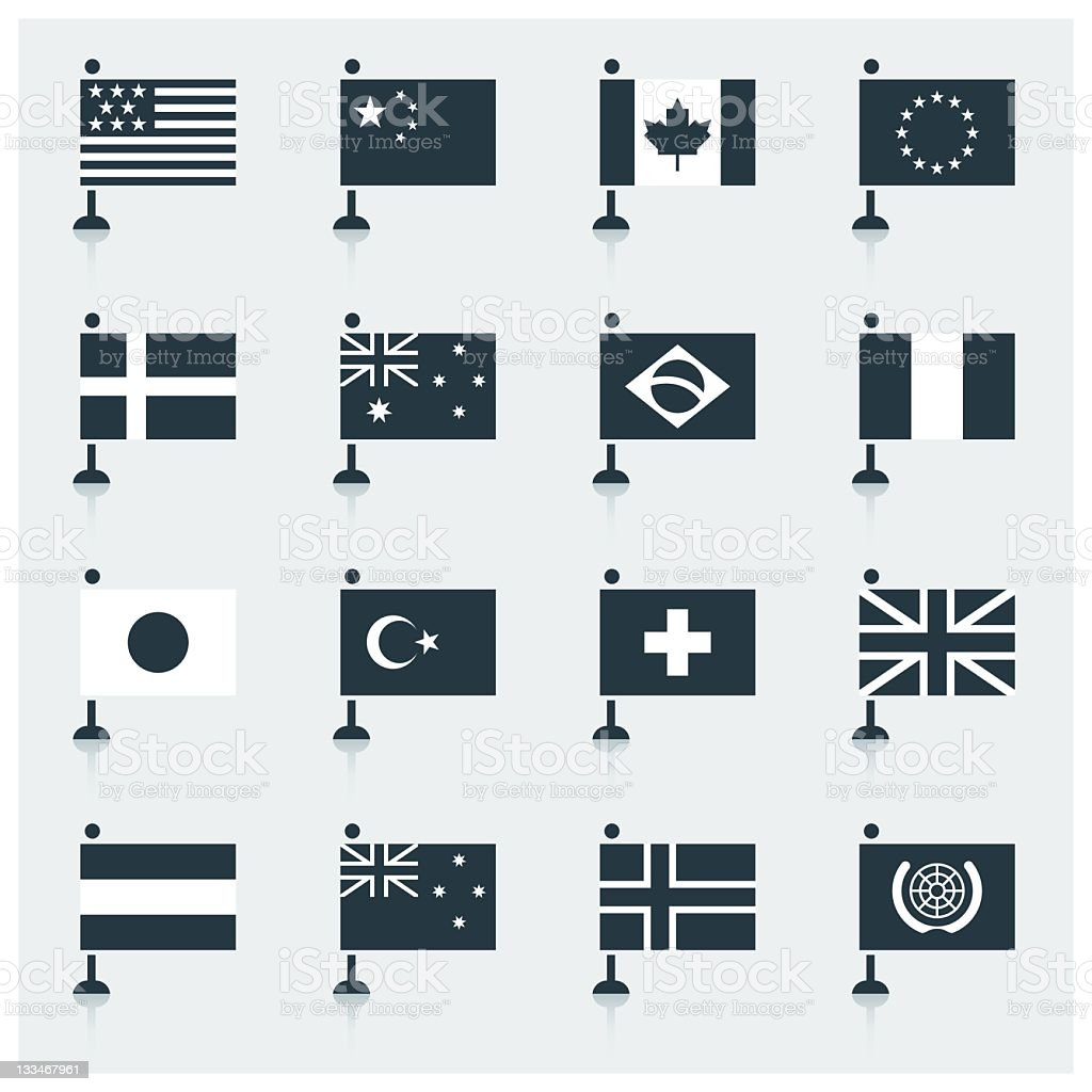 World Flags royalty-free stock vector art