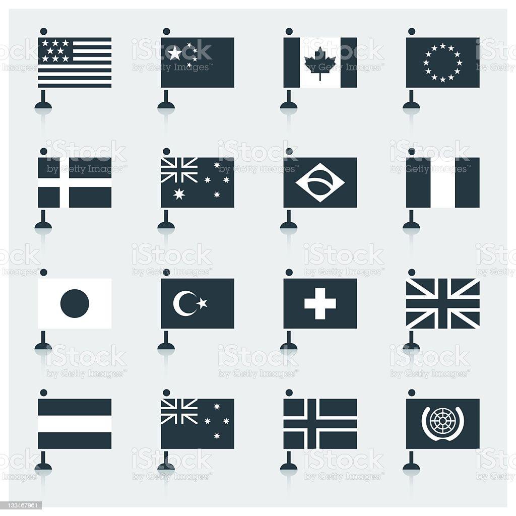 World Flags vector art illustration