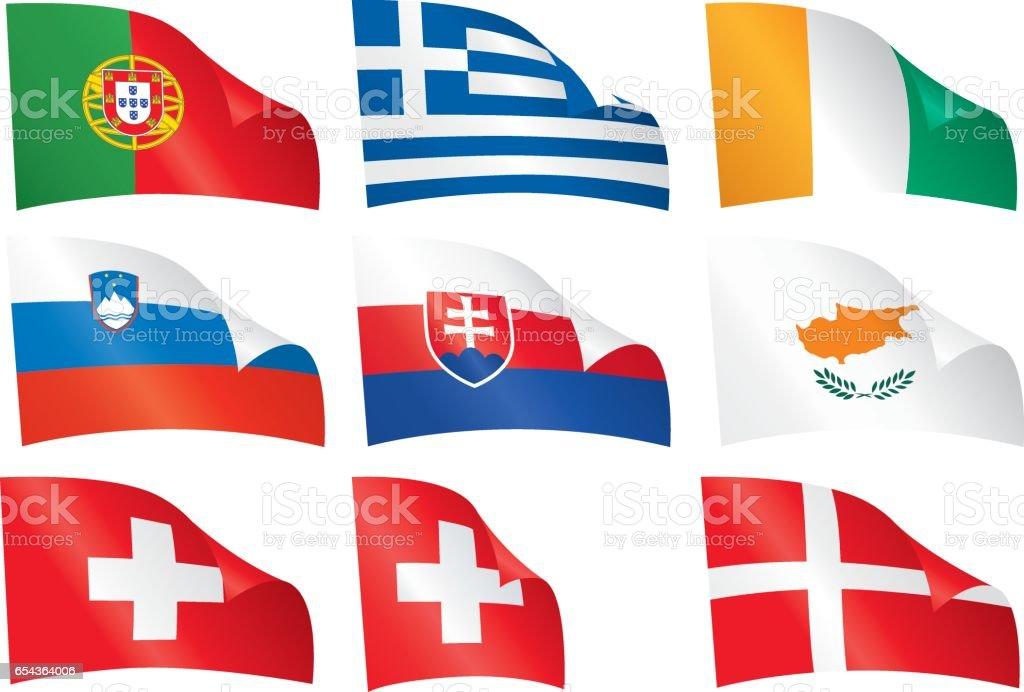 World flags. vector art illustration