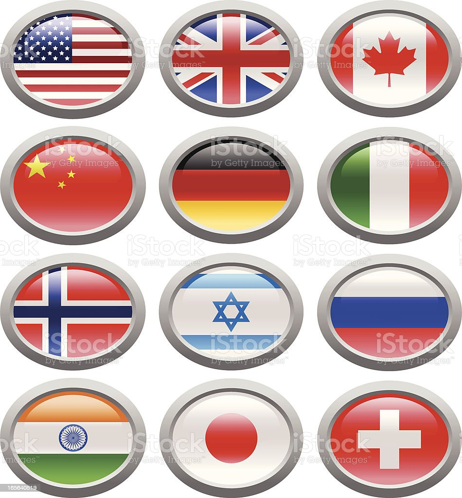 world flags-3 royalty-free stock vector art