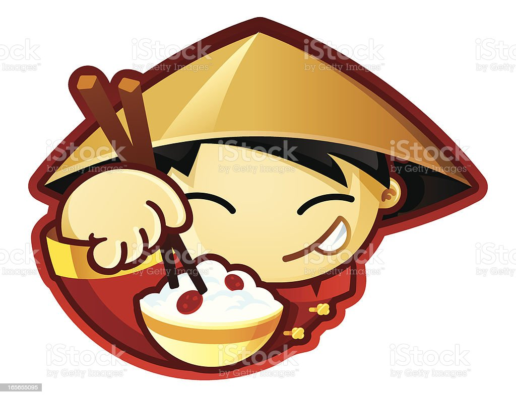 World Food Characters China vector art illustration