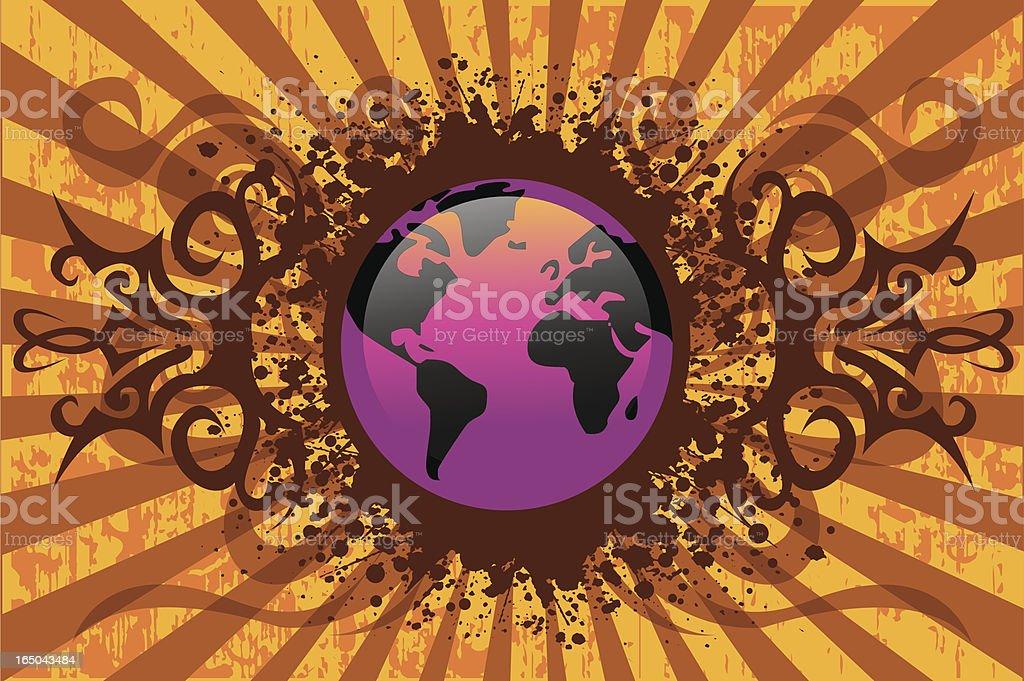 world globe design royalty-free stock vector art