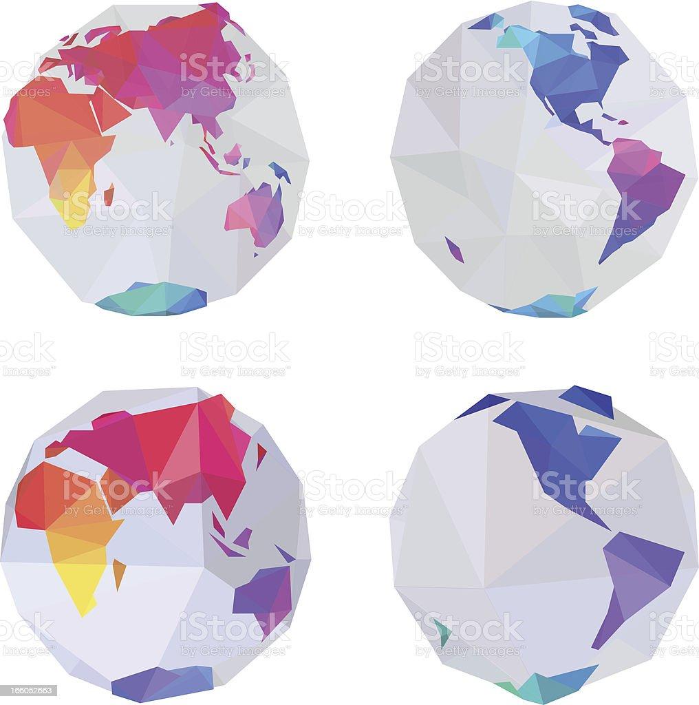 ?World globe royalty-free stock vector art