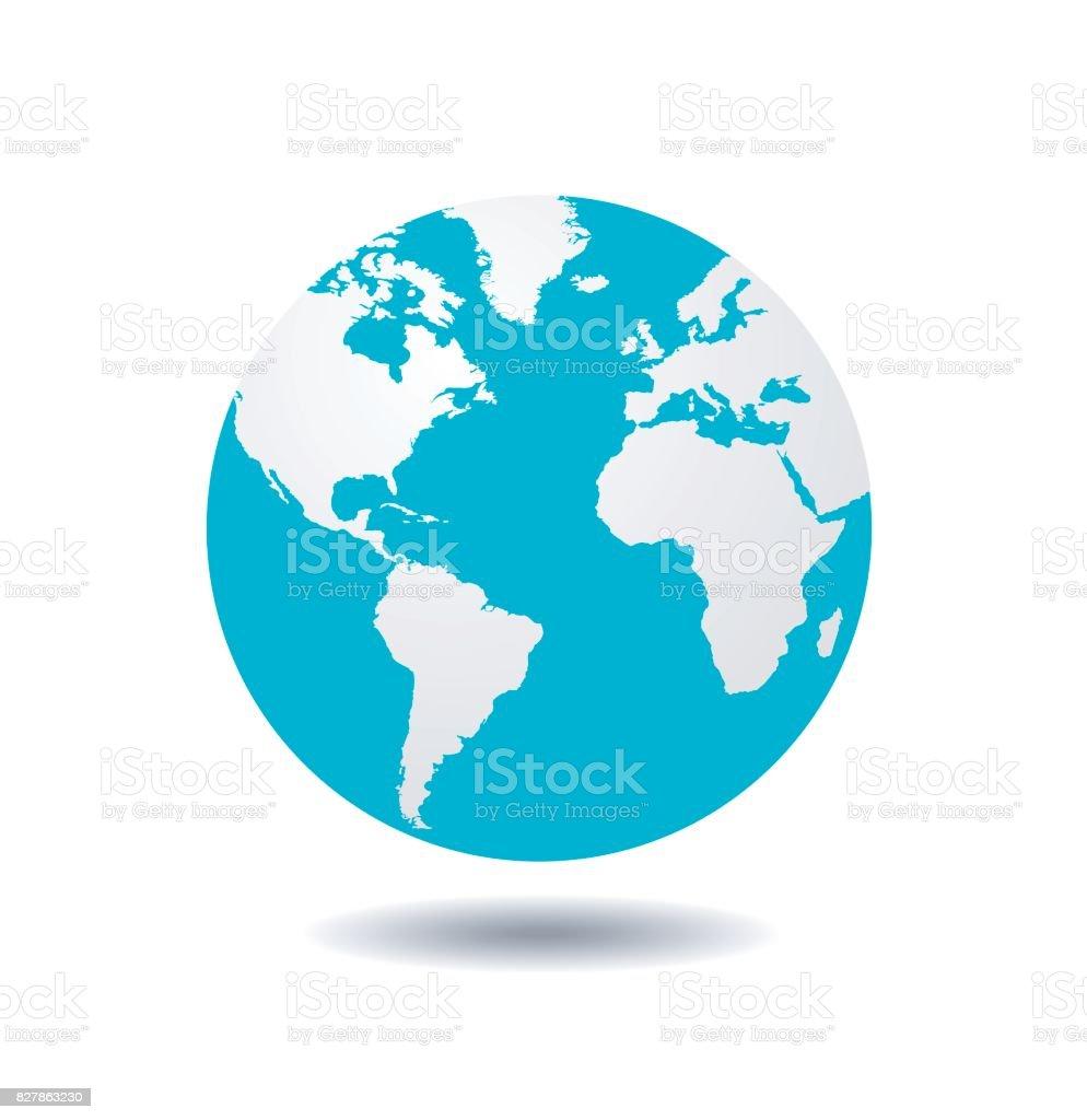 world globe vector vector art illustration