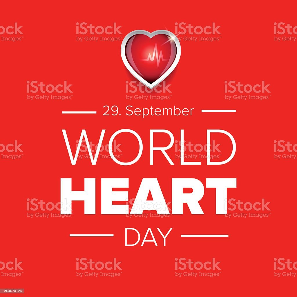 World Heart Day vector background vector art illustration