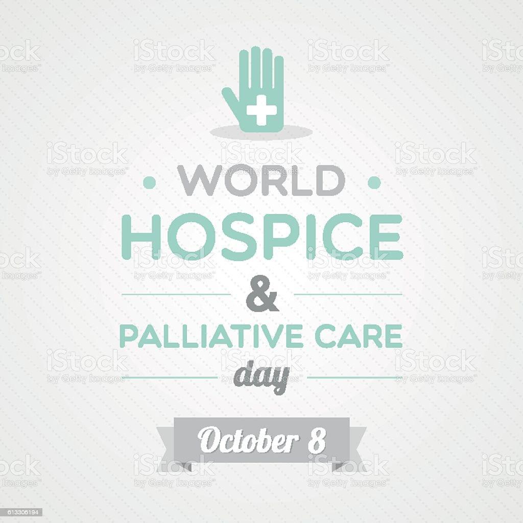 World Hospice & Palliative Care Day vector art illustration