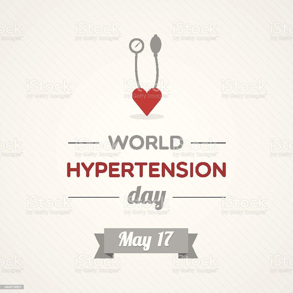 World Hypertension Day vector art illustration