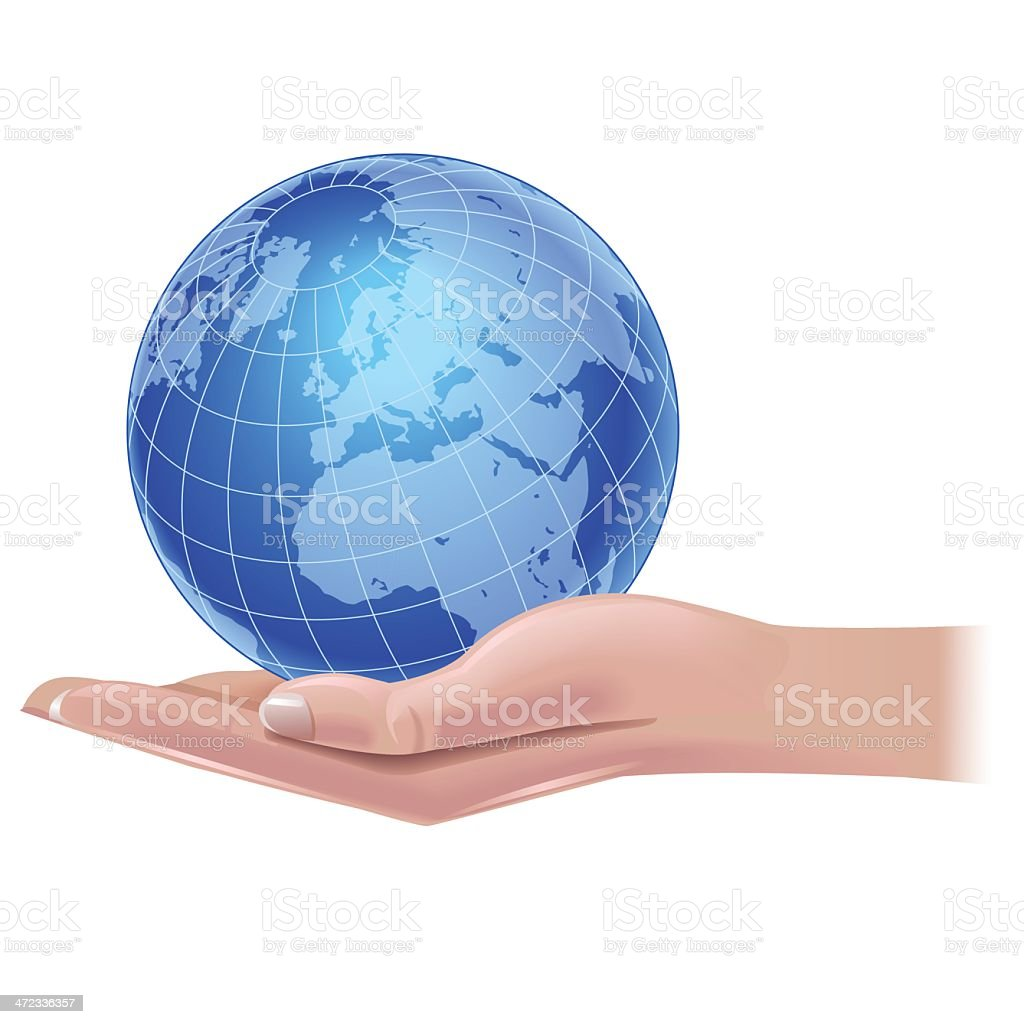 World in hands royalty-free stock vector art