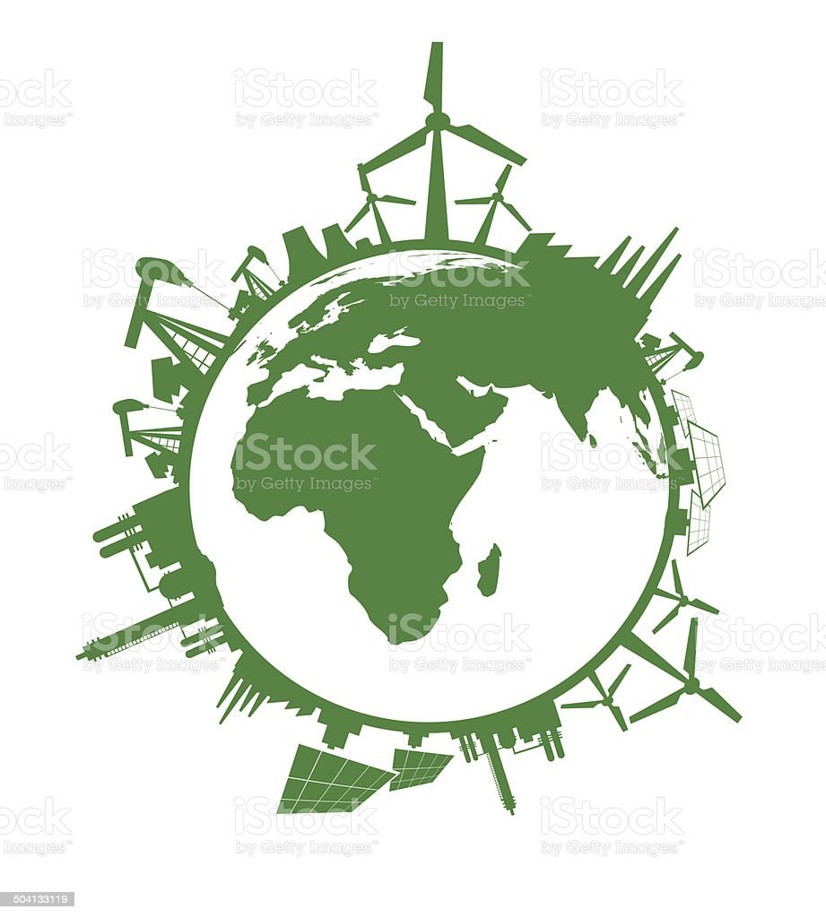 Icône de l'industrie du monde stock vecteur libres de droits libre de droits