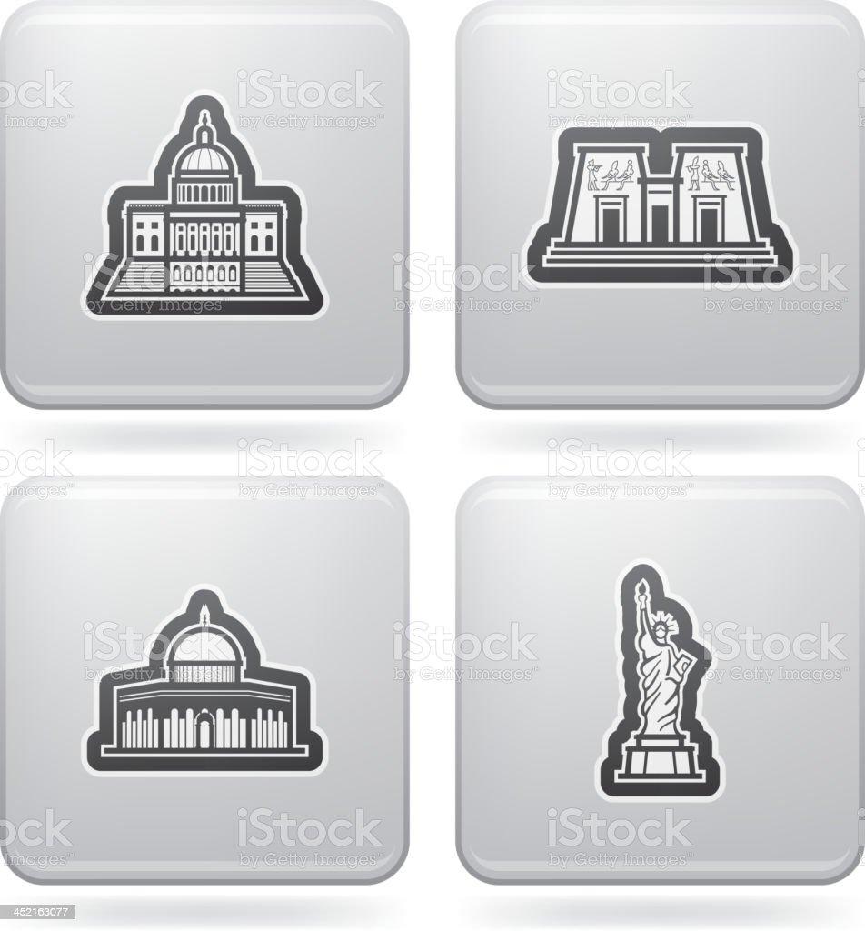 World Landmarks royalty-free stock vector art