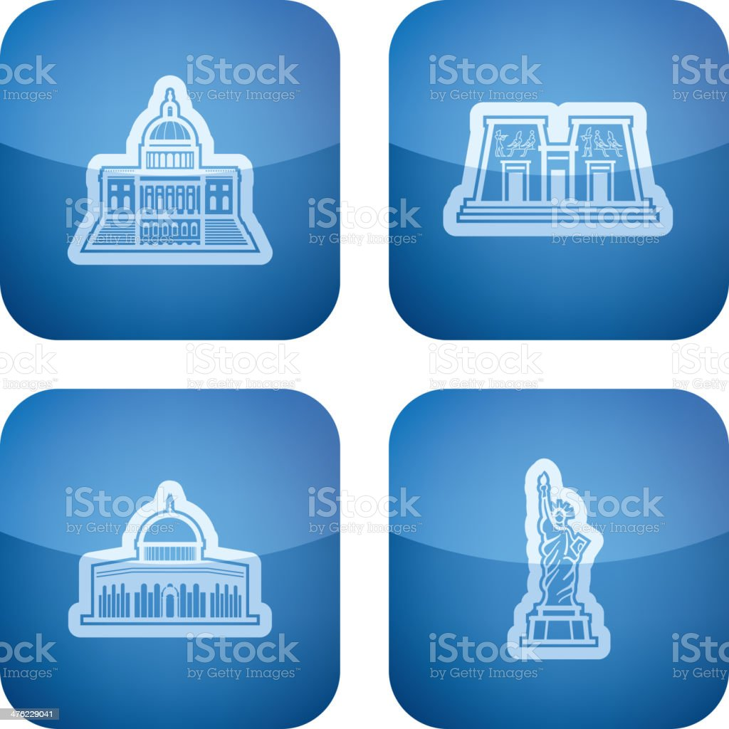 World Landmarks royalty-free stock vector art