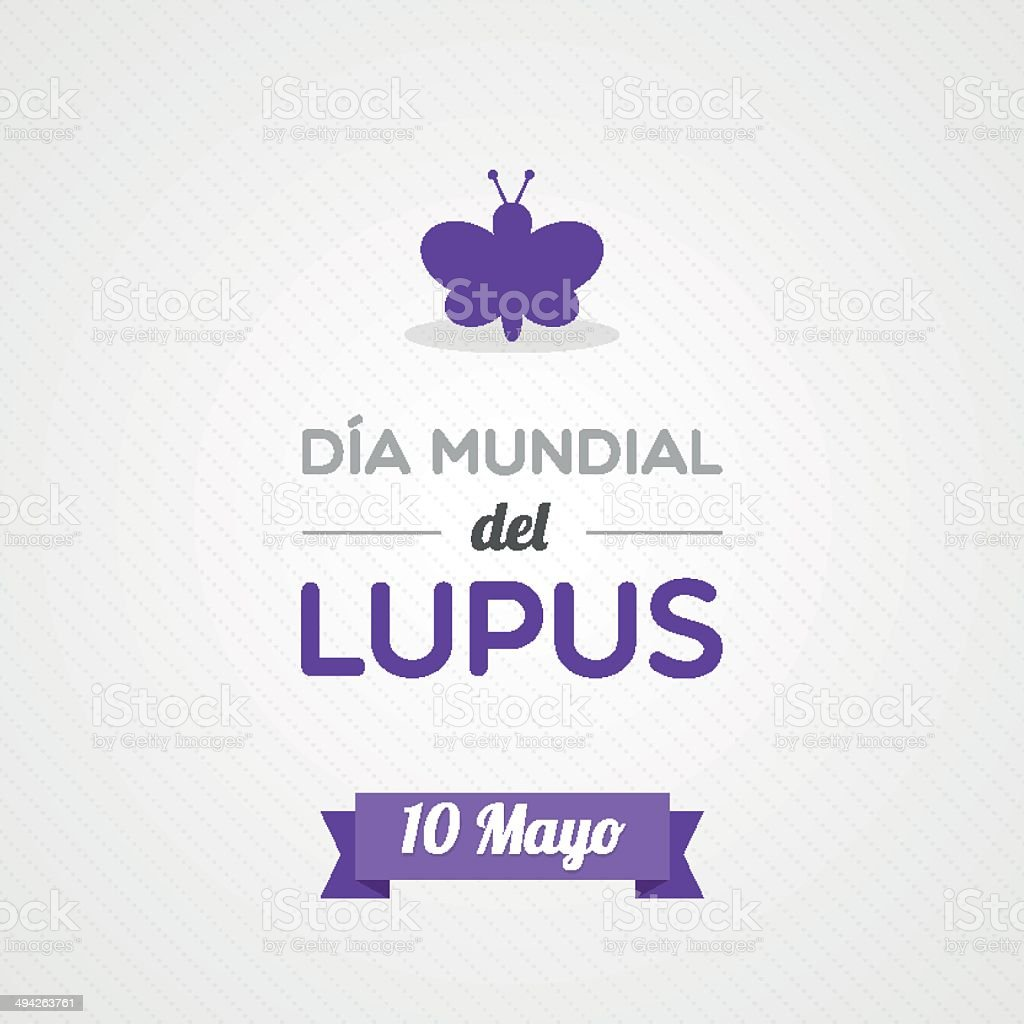 World Lupus Day in Spanish royalty-free stock vector art