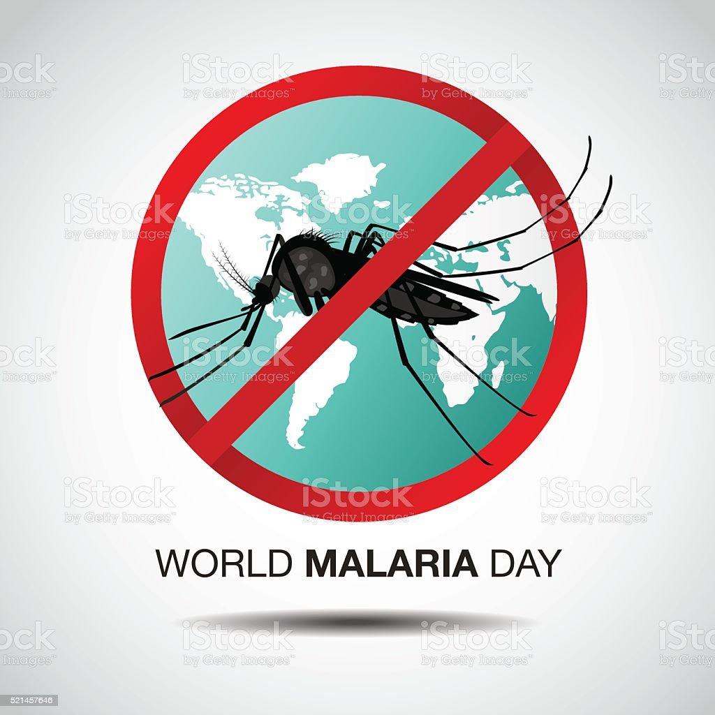 world malaria day, vector illustration,flat design vector art illustration