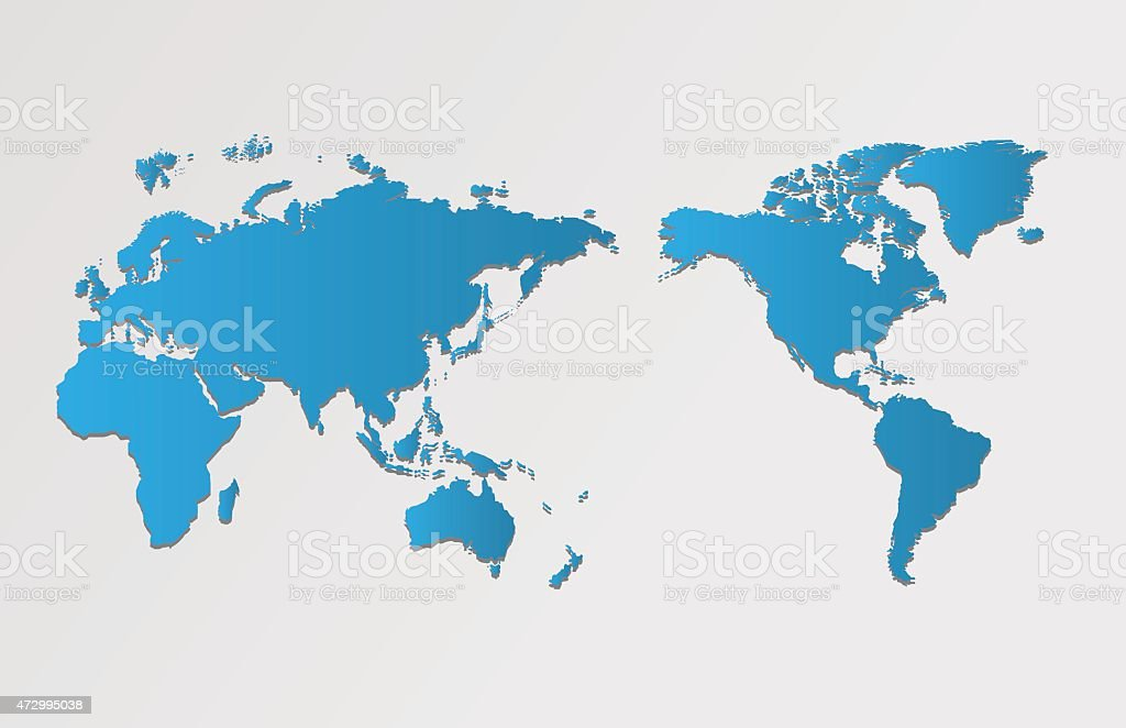 World map and compass of vector, vector illustration vector art illustration