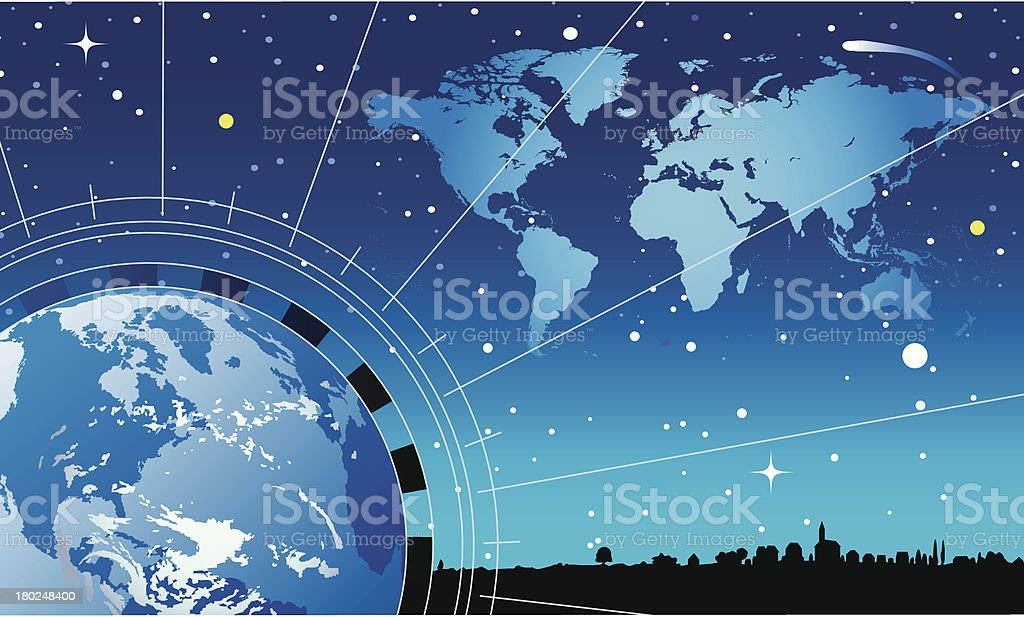 world map and globe royalty-free stock vector art