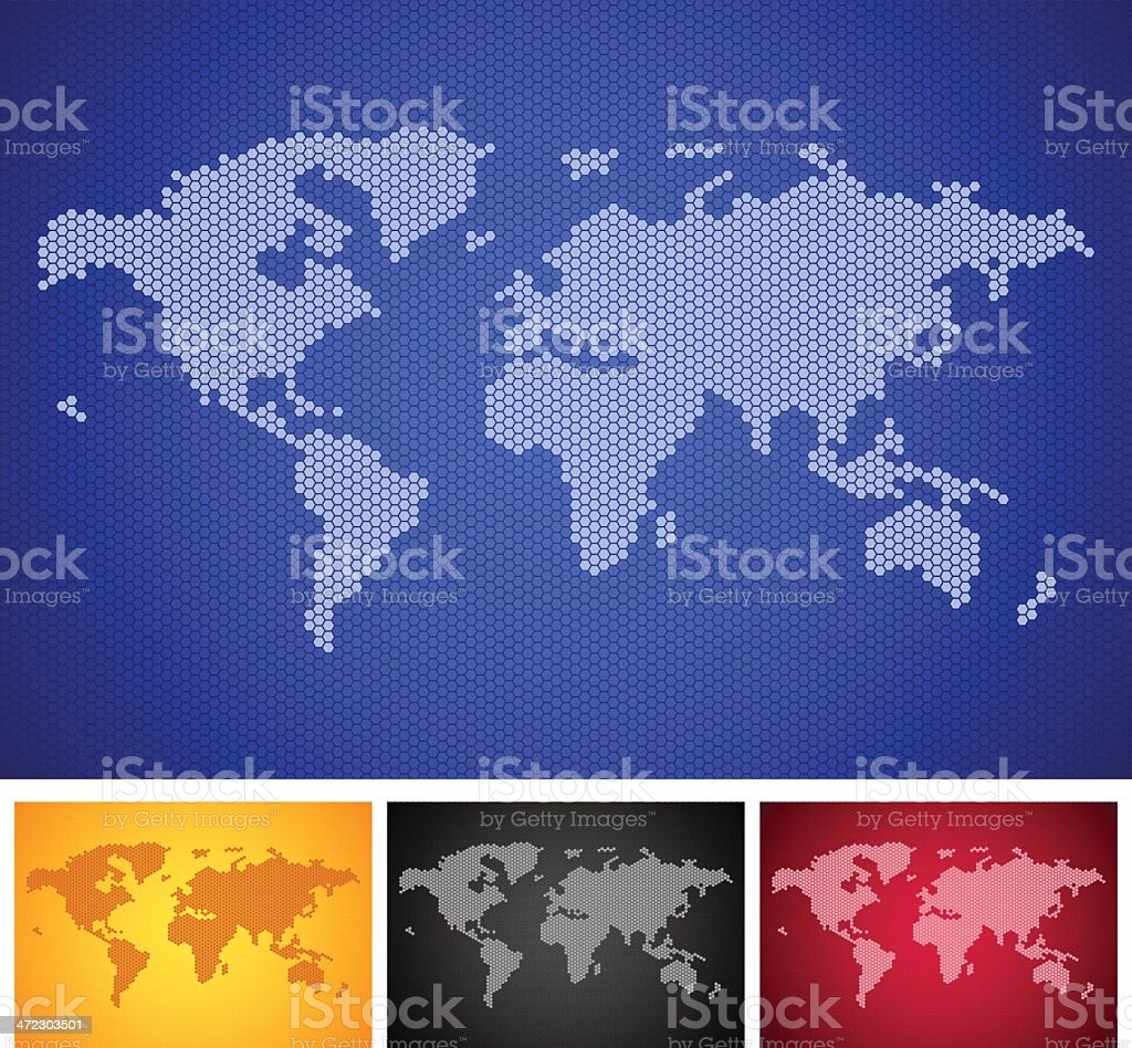 World map background royalty-free stock vector art