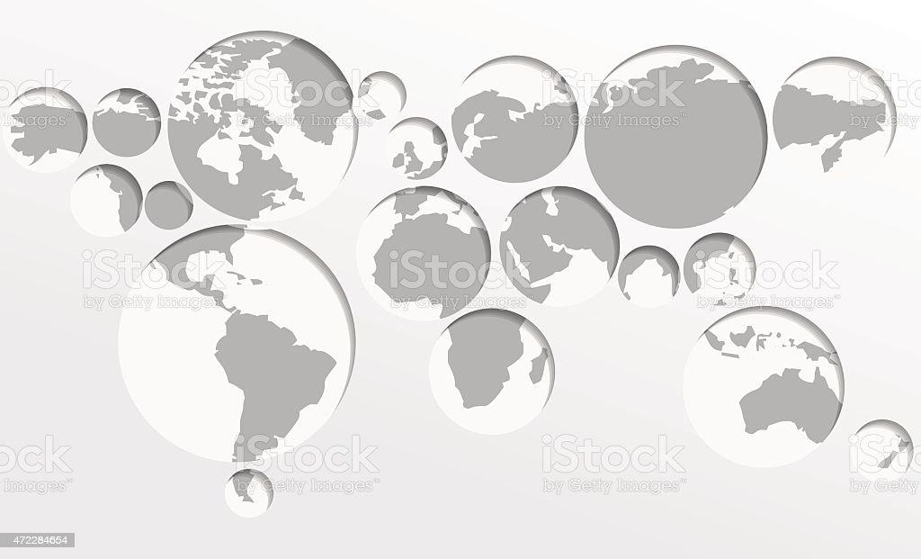 Cercles carte du monde stock vecteur libres de droits libre de droits