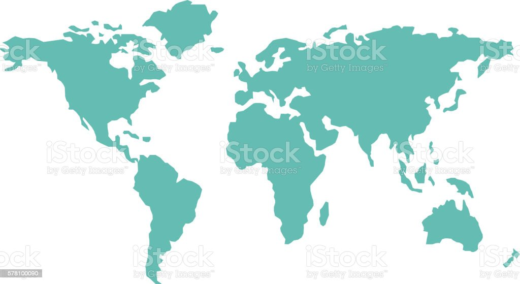 World map countries geography vector. vector art illustration