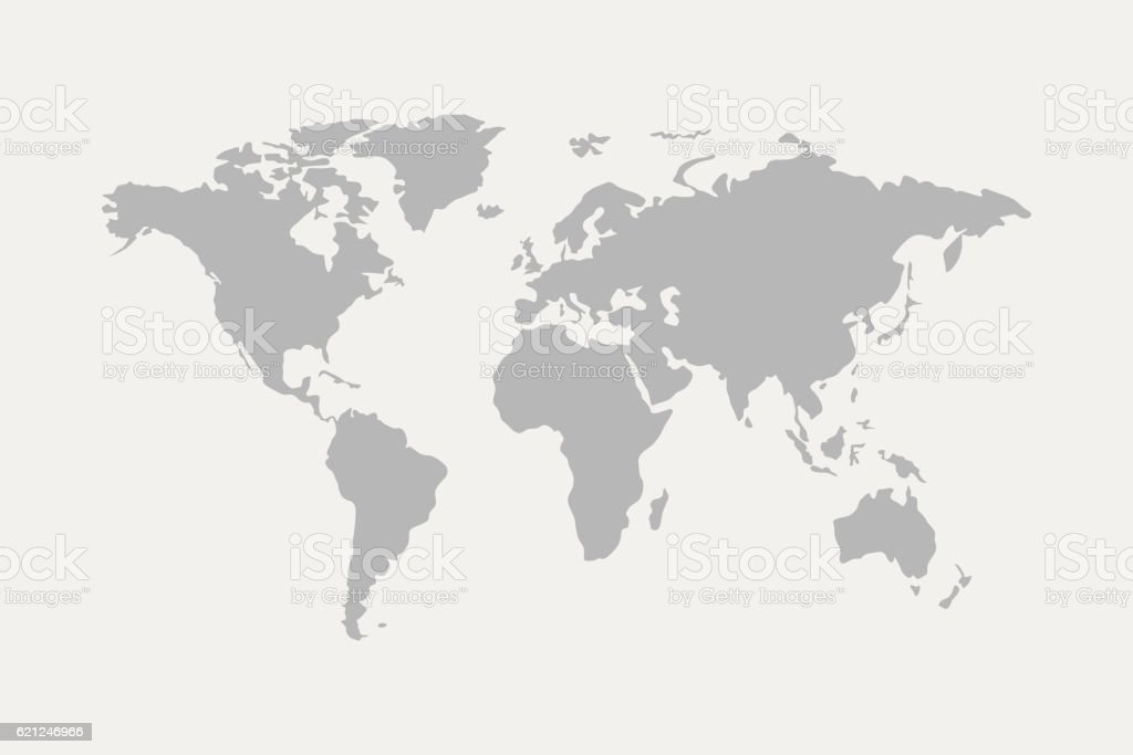 world map grey vector art illustration
