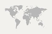 world map grey